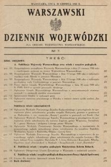 Warszawski Dziennik Wojewódzki : dla obszaru Województwa Warszawskiego. 1930, nr7