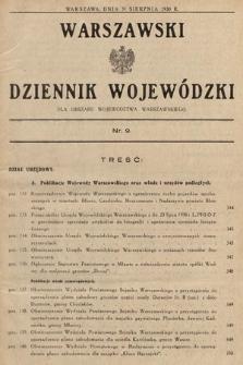 Warszawski Dziennik Wojewódzki : dla obszaru Województwa Warszawskiego. 1930, nr9