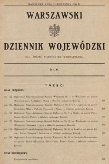 Warszawski Dziennik Wojewódzki : dla obszaru Województwa Warszawskiego. 1930, nr11