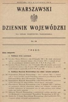 Warszawski Dziennik Wojewódzki : dla obszaru Województwa Warszawskiego. 1930, nr14