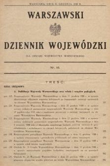 Warszawski Dziennik Wojewódzki : dla obszaru Województwa Warszawskiego. 1930, nr15