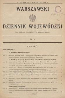 Warszawski Dziennik Wojewódzki : dla obszaru Województwa Warszawskiego. 1931, nr1