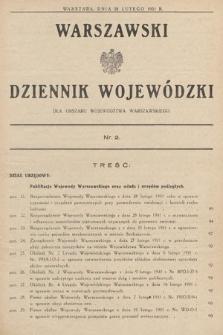 Warszawski Dziennik Wojewódzki : dla obszaru Województwa Warszawskiego. 1931, nr2
