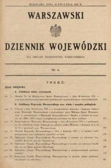 Warszawski Dziennik Wojewódzki : dla obszaru Województwa Warszawskiego. 1931, nr4