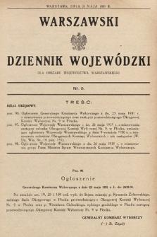 Warszawski Dziennik Wojewódzki : dla obszaru Województwa Warszawskiego. 1931, nr5