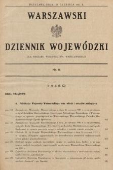 Warszawski Dziennik Wojewódzki : dla obszaru Województwa Warszawskiego. 1931, nr8