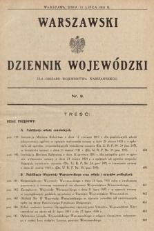 Warszawski Dziennik Wojewódzki : dla obszaru Województwa Warszawskiego. 1931, nr9