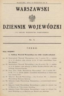 Warszawski Dziennik Wojewódzki : dla obszaru Województwa Warszawskiego. 1931, nr11