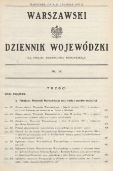Warszawski Dziennik Wojewódzki : dla obszaru Województwa Warszawskiego. 1931, nr14