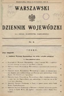 Warszawski Dziennik Wojewódzki : dla obszaru Województwa Warszawskiego. 1932, nr2