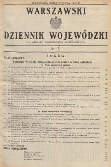 Warszawski Dziennik Wojewódzki : dla obszaru Województwa Warszawskiego. 1932, nr7