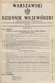 Warszawski Dziennik Wojewódzki : dla obszaru Województwa Warszawskiego. 1932, nr8