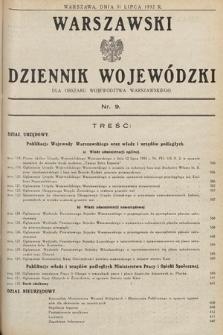 Warszawski Dziennik Wojewódzki : dla obszaru Województwa Warszawskiego. 1932, nr9