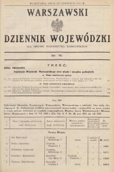 Warszawski Dziennik Wojewódzki : dla obszaru Województwa Warszawskiego. 1932, nr15