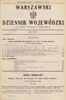 Warszawski Dziennik Wojewódzki : dla obszaru Województwa Warszawskiego. 1932, nr16