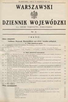 Warszawski Dziennik Wojewódzki : dla obszaru Województwa Warszawskiego. 1933, nr4