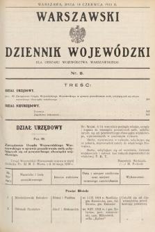 Warszawski Dziennik Wojewódzki : dla obszaru Województwa Warszawskiego. 1933, nr8