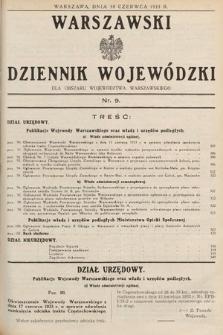 Warszawski Dziennik Wojewódzki : dla obszaru Województwa Warszawskiego. 1933, nr9