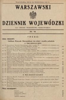Warszawski Dziennik Wojewódzki : dla obszaru Województwa Warszawskiego. 1933, nr13