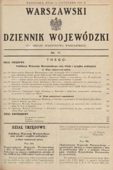 Warszawski Dziennik Wojewódzki : dla obszaru Województwa Warszawskiego. 1933, nr17