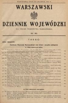 Warszawski Dziennik Wojewódzki : dla obszaru Województwa Warszawskiego. 1933, nr20