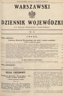 Warszawski Dziennik Wojewódzki : dla obszaru Województwa Warszawskiego. 1934, nr3