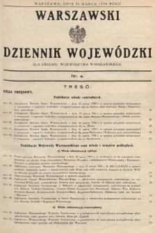 Warszawski Dziennik Wojewódzki : dla obszaru Województwa Warszawskiego. 1934, nr4