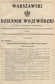 Warszawski Dziennik Wojewódzki : dla obszaru Województwa Warszawskiego. 1934, nr8
