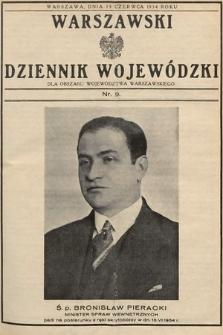 Warszawski Dziennik Wojewódzki : dla obszaru Województwa Warszawskiego. 1934, nr9