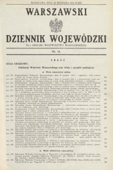 Warszawski Dziennik Wojewódzki : dla obszaru Województwa Warszawskiego. 1934, nr14