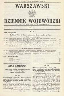 Warszawski Dziennik Wojewódzki : dla obszaru Województwa Warszawskiego. 1934, nr19