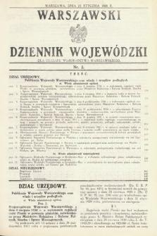 Warszawski Dziennik Wojewódzki : dla obszaru Województwa Warszawskiego. 1935, nr2