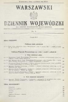 Warszawski Dziennik Wojewódzki : dla obszaru Województwa Warszawskiego. 1935, nr3
