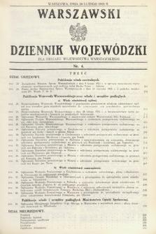 Warszawski Dziennik Wojewódzki : dla obszaru Województwa Warszawskiego. 1935, nr4