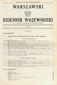 Warszawski Dziennik Wojewódzki : dla obszaru Województwa Warszawskiego. 1935, nr5
