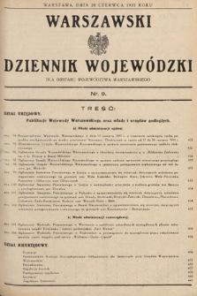 Warszawski Dziennik Wojewódzki : dla obszaru Województwa Warszawskiego. 1935, nr9