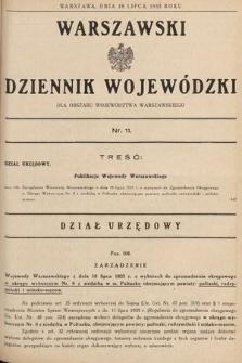Warszawski Dziennik Wojewódzki : dla obszaru Województwa Warszawskiego. 1935, nr11