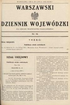 Warszawski Dziennik Wojewódzki : dla obszaru Województwa Warszawskiego. 1935, nr19