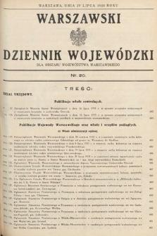 Warszawski Dziennik Wojewódzki : dla obszaru Województwa Warszawskiego. 1935, nr20