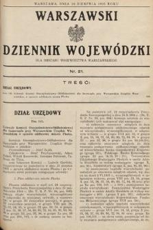 Warszawski Dziennik Wojewódzki : dla obszaru Województwa Warszawskiego. 1935, nr21