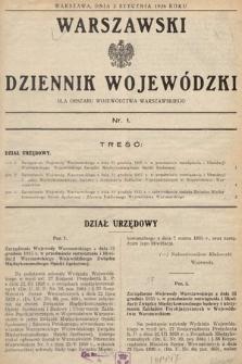 Warszawski Dziennik Wojewódzki : dla obszaru Województwa Warszawskiego. 1936, nr1