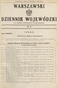 Warszawski Dziennik Wojewódzki : dla obszaru Województwa Warszawskiego. 1936, nr2