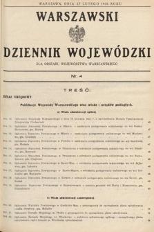 Warszawski Dziennik Wojewódzki : dla obszaru Województwa Warszawskiego. 1936, nr4