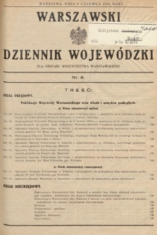 Warszawski Dziennik Wojewódzki : dla obszaru Województwa Warszawskiego. 1936, nr8