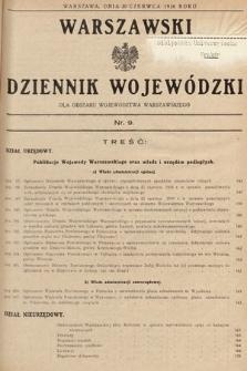 Warszawski Dziennik Wojewódzki : dla obszaru Województwa Warszawskiego. 1936, nr9