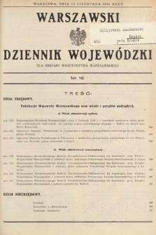Warszawski Dziennik Wojewódzki : dla obszaru Województwa Warszawskiego. 1936, nr16