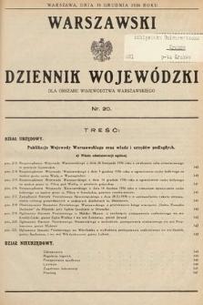 Warszawski Dziennik Wojewódzki : dla obszaru Województwa Warszawskiego. 1936, nr20