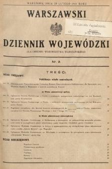 Warszawski Dziennik Wojewódzki : dla obszaru Województwa Warszawskiego. 1937, nr2