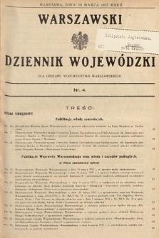 Warszawski Dziennik Wojewódzki : dla obszaru Województwa Warszawskiego. 1937, nr4