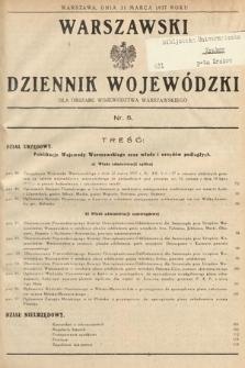 Warszawski Dziennik Wojewódzki : dla obszaru Województwa Warszawskiego. 1937, nr5